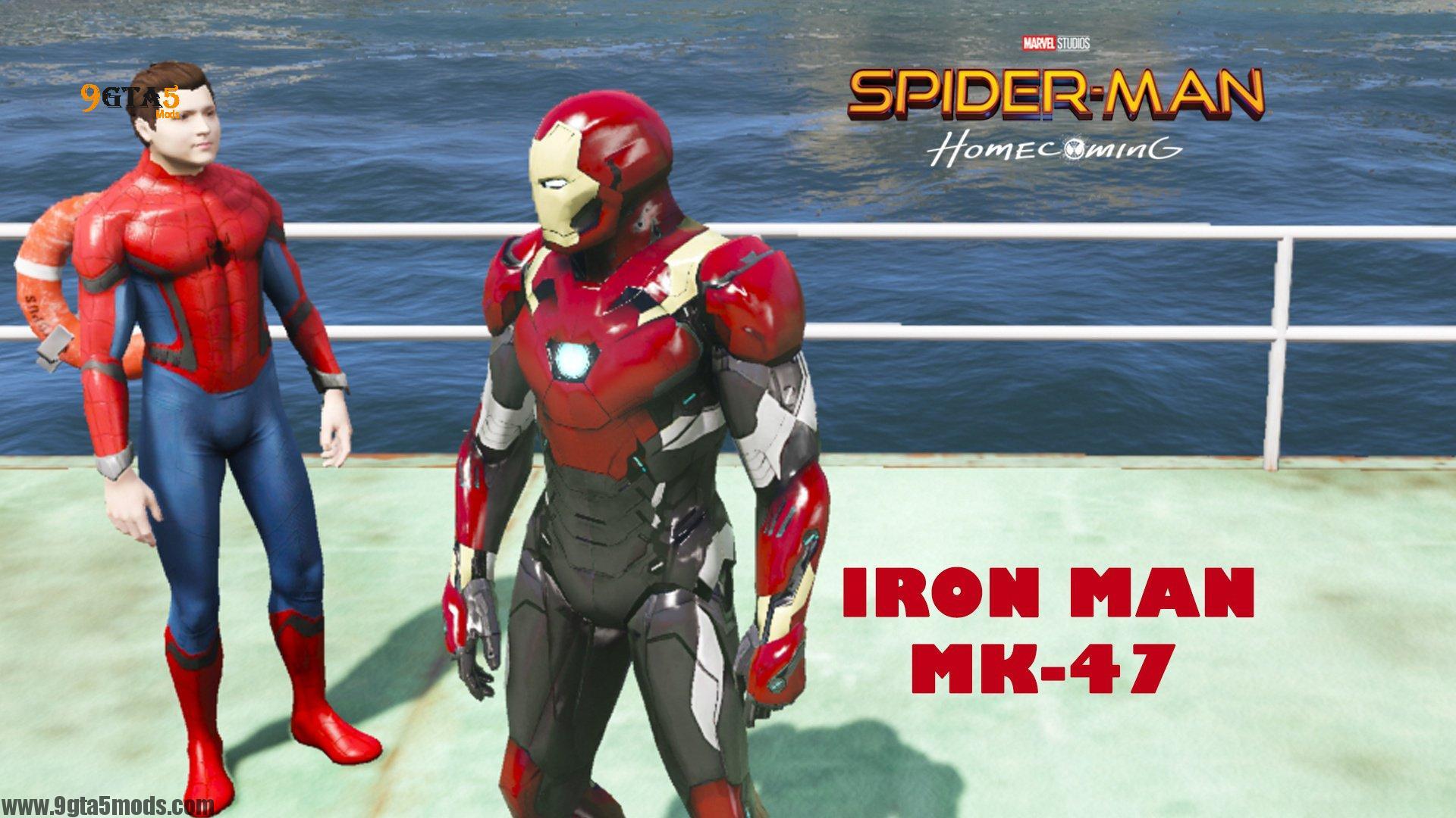 Iron Man Mark 47 Spider Man Homecoming - GTA 5 PLAYER Mods