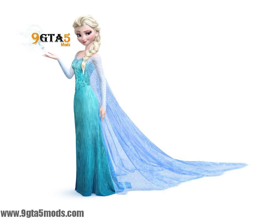 elsa from frozen dress gta5