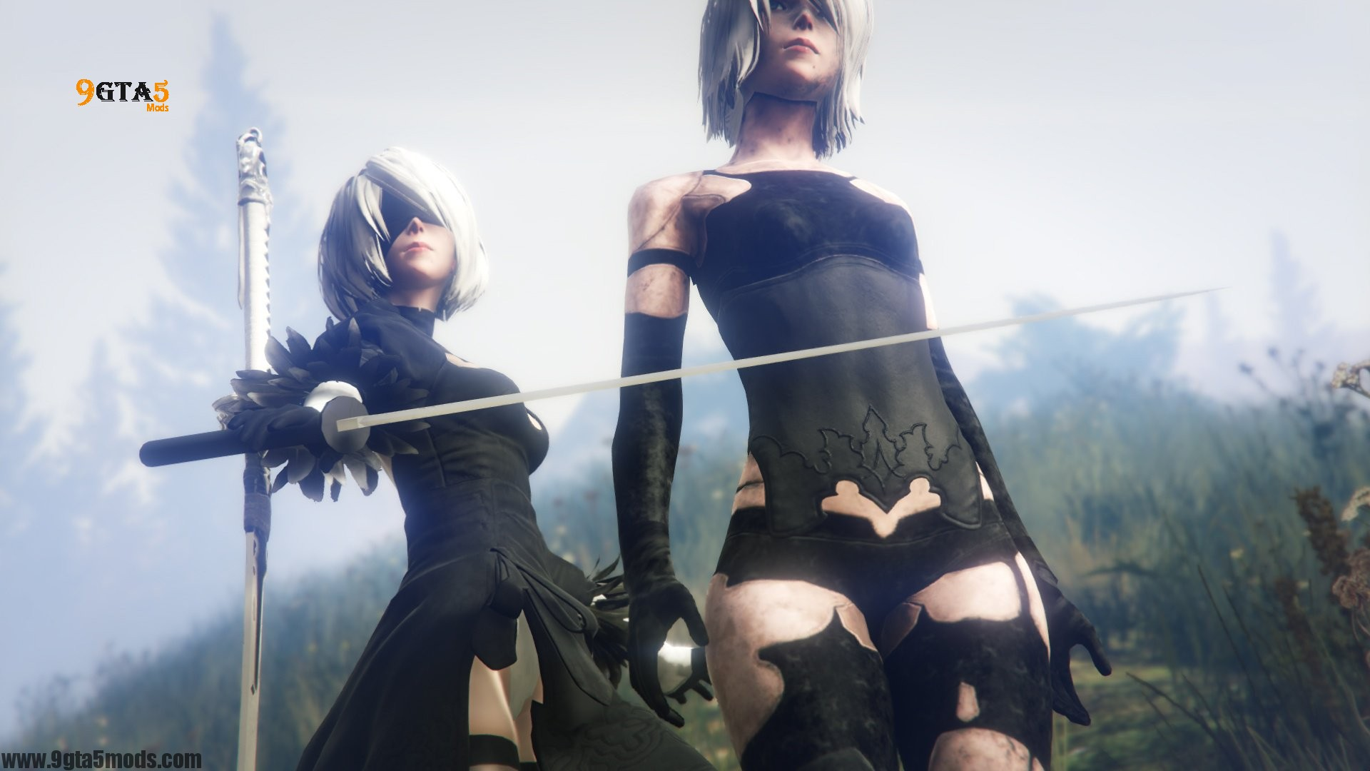 2B And A2 Nier : Automata - Player Mods For GTA5 ...