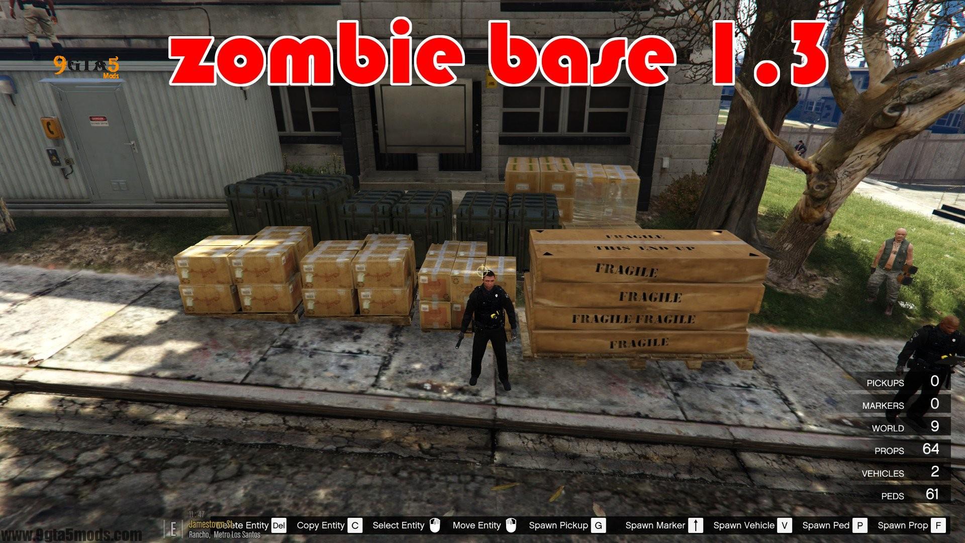Zombie Base Survival - GTA 5 MAPS Mods