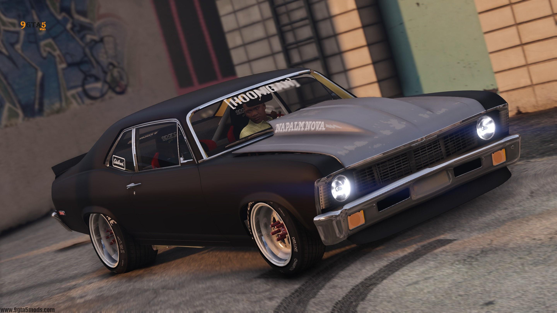 "2017 Dodge Charger Srt Hellcat >> 1972 Hoonigan Chevrolet ""Napalm Nova"" [ADDON | ANIMATED] – GTA 5 Vehicles - 9gta5mods.com"