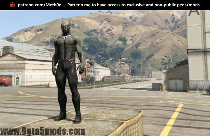 Black Panther from Civil War - Gta Gta V - 9gta5mods com